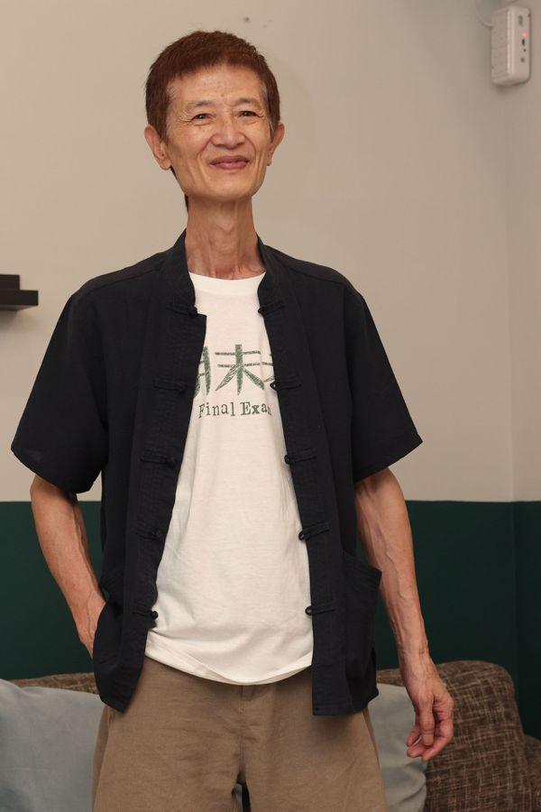 66歲陳博正雖然身材偏瘦,但靠著養生有成,精神狀態極好。 圖/李政龍 攝影