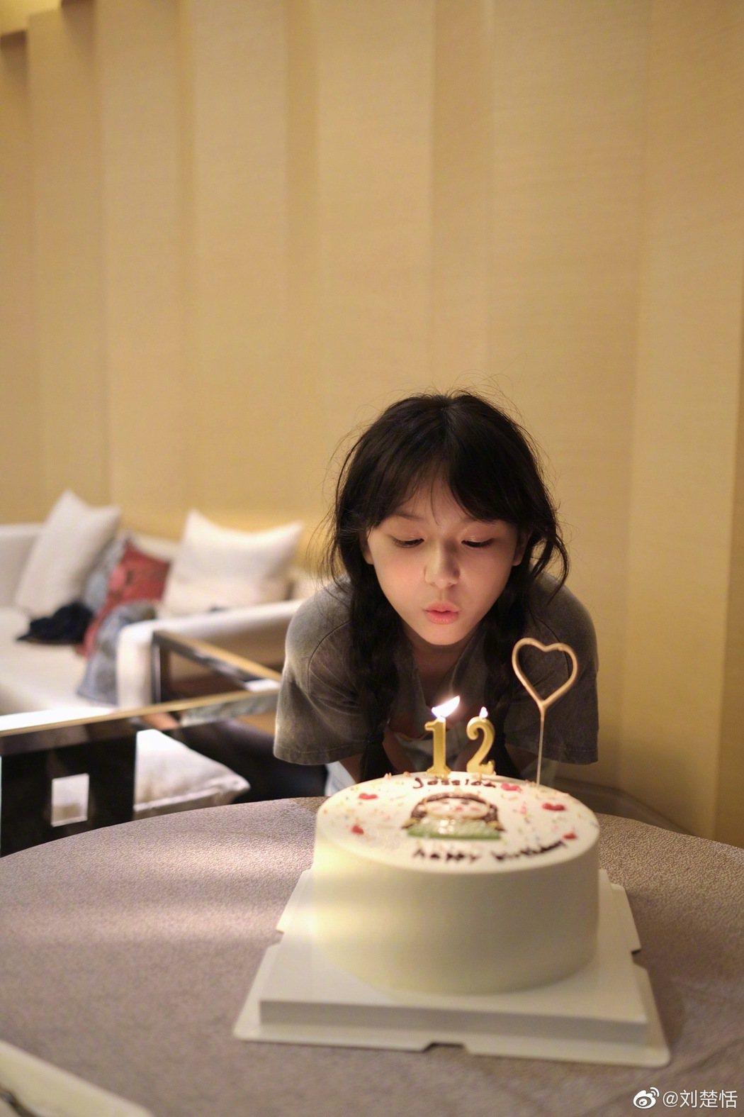 劉楚恬12歲生日。圖/結自微博