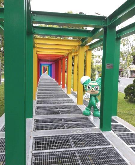 新營美術園區流露動漫美學風格。  圖/新營區公所提供
