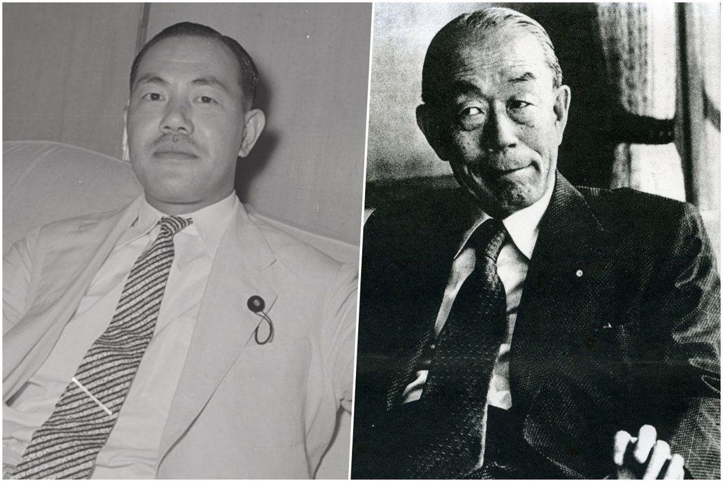 田中角榮(左)與福田赳夫(右),1970年代至1980年代爆發雙方派閥爭奪自民黨...