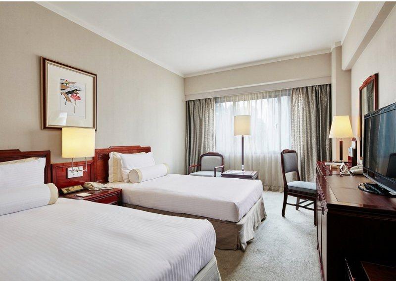 高級雙床房。 台北福華/提供