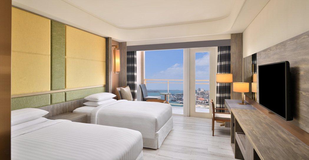 港景豪華雙床客房。