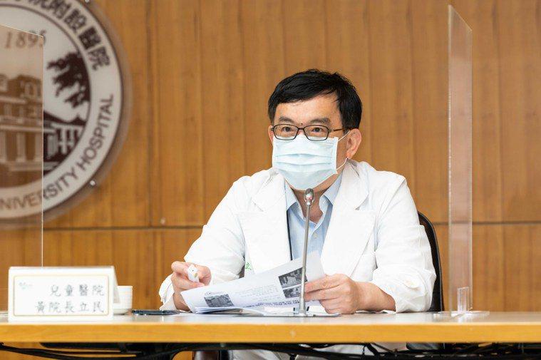 台大兒童醫院院長黃立民表示,目前根據幼兒園群聚案疫調結果可能傳染期有三波。圖/台...