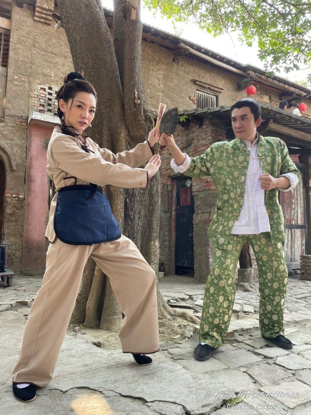 賴芊合(左)和車冠德演出「新台灣奇案」。圖/民視提供