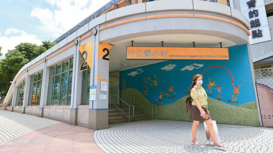 捷運中山國小站房市買氣熱絡,近一年區域房價平均漲幅約一成左右。記者林伯東/攝影