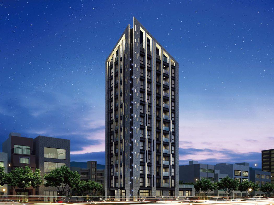 北市中山區預售新案「原樹」建築3D模擬。(圖/業者提供)
