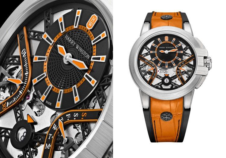 同樣為雙逆跳功能的Ocean系列Zalium Variation腕表,靈感來自1...