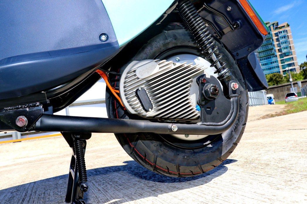 來自Gogoro的GH1整合式鋁合金輪轂馬達,可輸出4.02 匹、輪上扭力9.7...