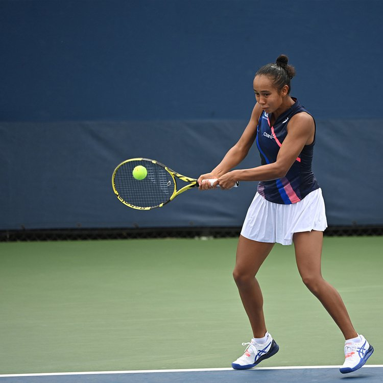 2021美國網球公開賽女子單打亞軍Leylah Fernandez。圖/ASIC...