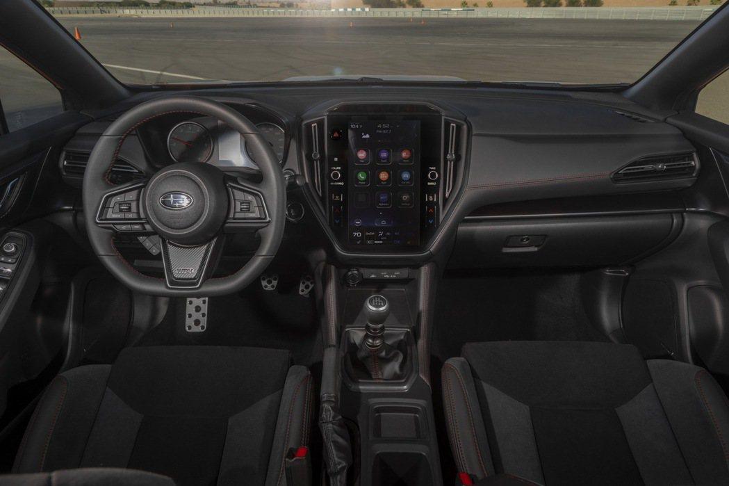 新世代WRX擁有11.6吋高解析度大型觸控螢幕(手排版本)。 摘自Subaru