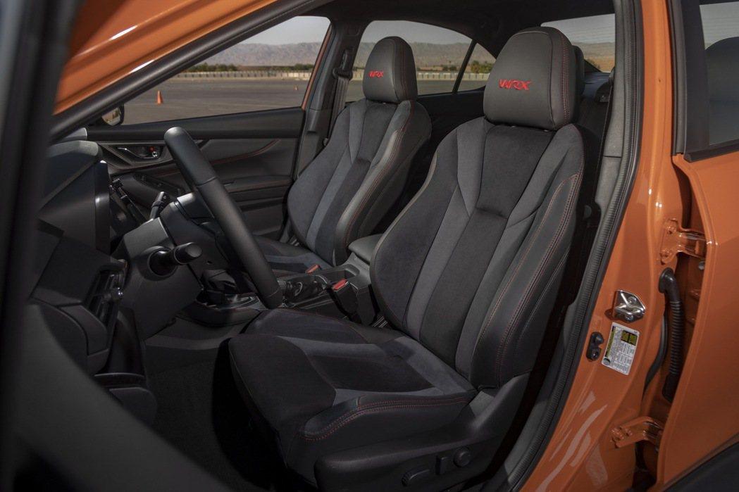 內裝雙前座椅繡有WRX字樣。 摘自Subaru