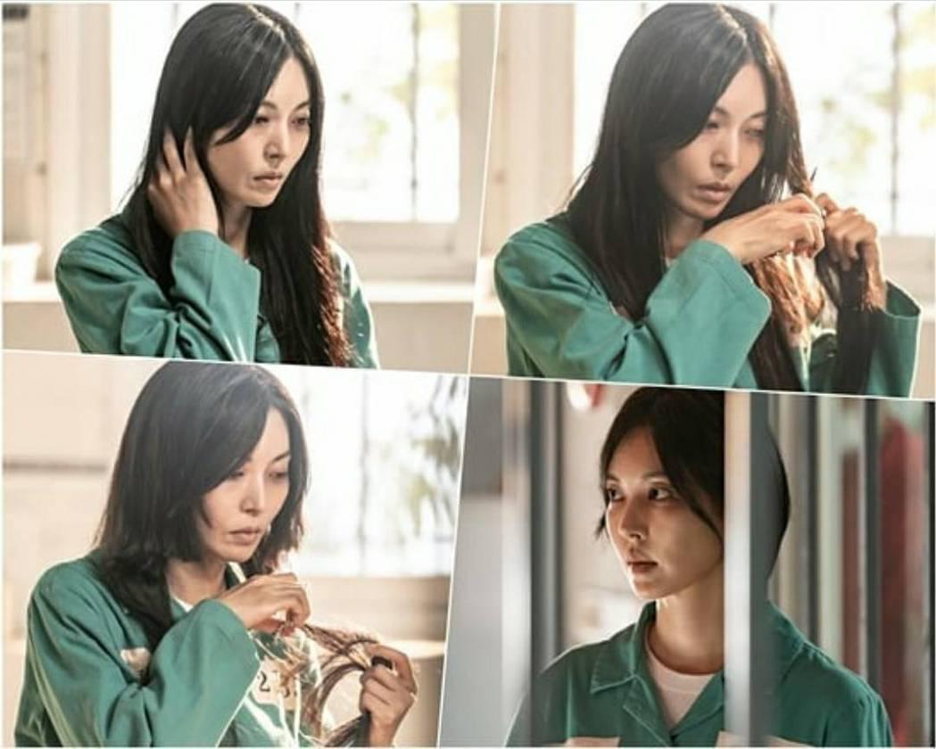 金素妍為戲剪去一頭長髮。圖/摘自IG