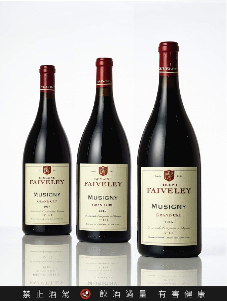 Musigny, Faiveley 2015年(1.5公升裝單瓶),估價10萬港...