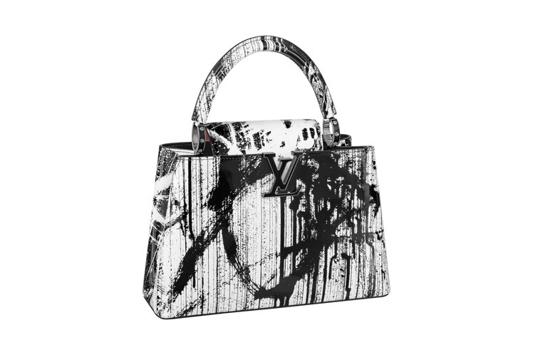 Gregor Hildebrandt的黑白設計搭配網版印刷皮革與鑲嵌黑膠唱片的路...