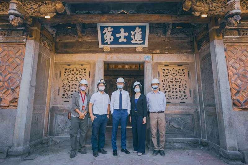 竹市進士第一期修復工程即將完工。圖/新竹市政府提供