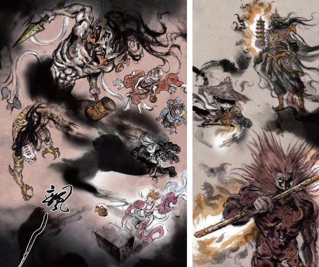 《貓劍客》內頁圖像。 圖/時報出版提供