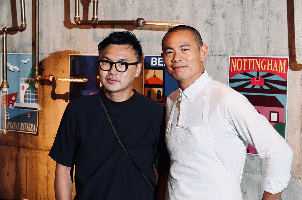 Bito創意總監劉耕名(左)與江振誠攜手,為新菜單「World Tour III...