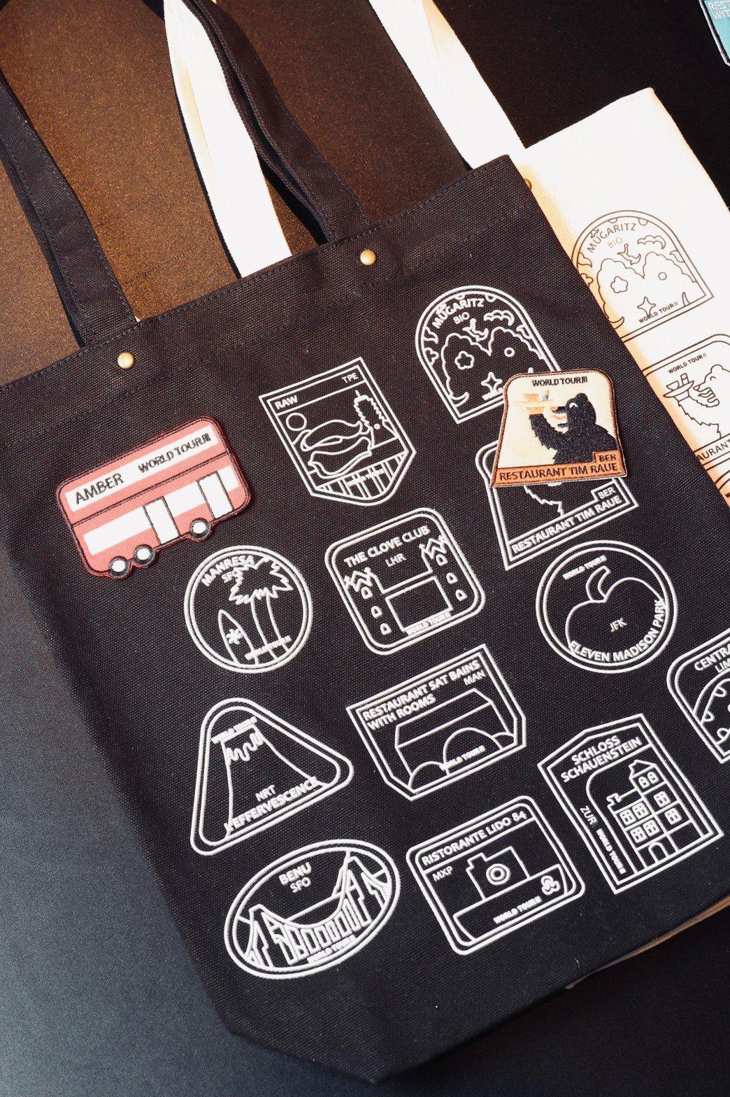 集合城市特色的刺繡臂章,可以貼在帆布袋上,勢必引發粉絲搜集。記者王聰賢/攝影