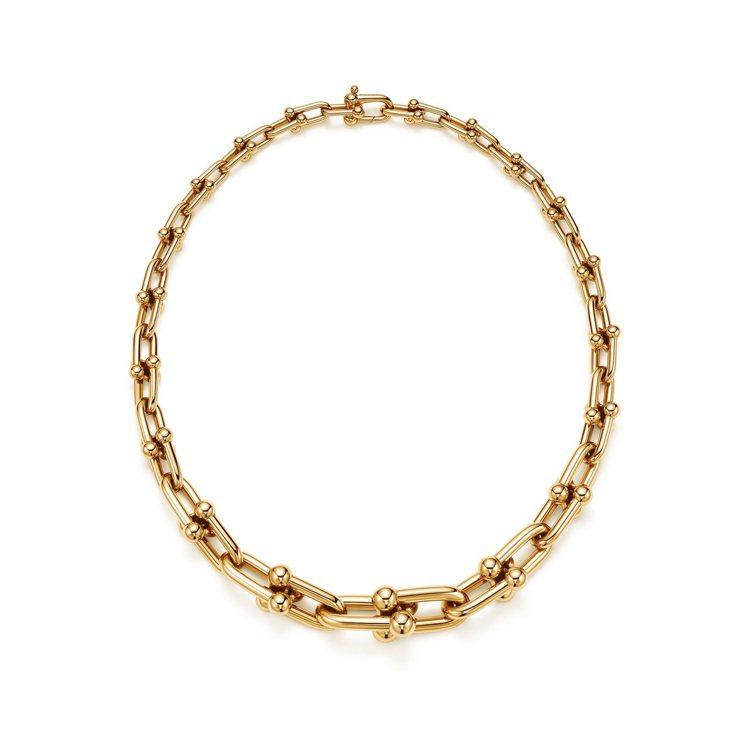 Tiffany & Co.的Hardwear系列18K金鍊結設計項鍊。圖...