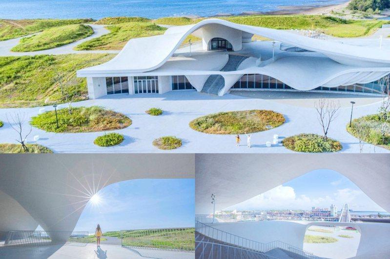 桃園市政府在客家委員會推動下,斥資4.5億元整地建造獨特唯美的海螺館。圖/IG@bing__ben提供