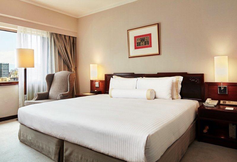 台北福華大飯店的高級單床房。 業者/提供