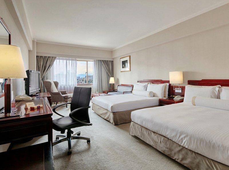 台北福華大飯店的豪華雙床房。 業者/提供