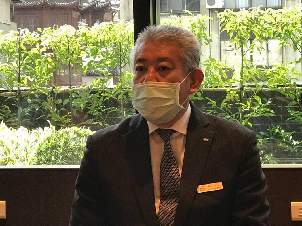 格拉斯麗台北酒店總經理奧立正人表示,雖然大環境仍處於新冠肺炎疫情中,但仍看好未來...