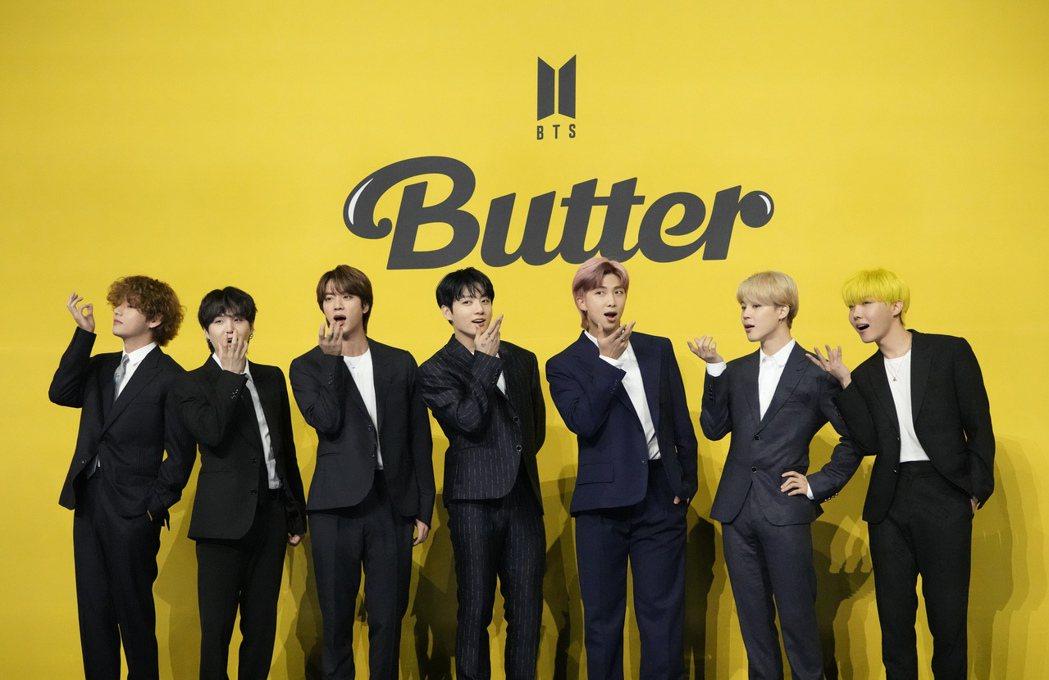BTS的夯曲「Butter」獲得「夏日歌曲」大獎。(美聯社)