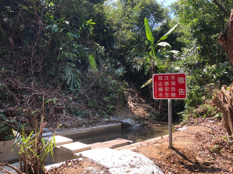 新北水利局補助貢寮區公所約101萬元經費進行相關改善工程,圖為取水口1處及2英吋送水HDPE管線340公尺。圖/新北市水利局提供