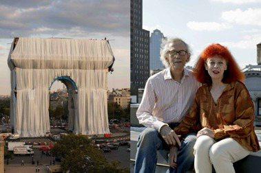 Christo&Jeanne-Claude創作雙人組,構思60年的「包裹凱旋門」作品,終於完成。圖/Christo&Jeanne-Claude基金會提供