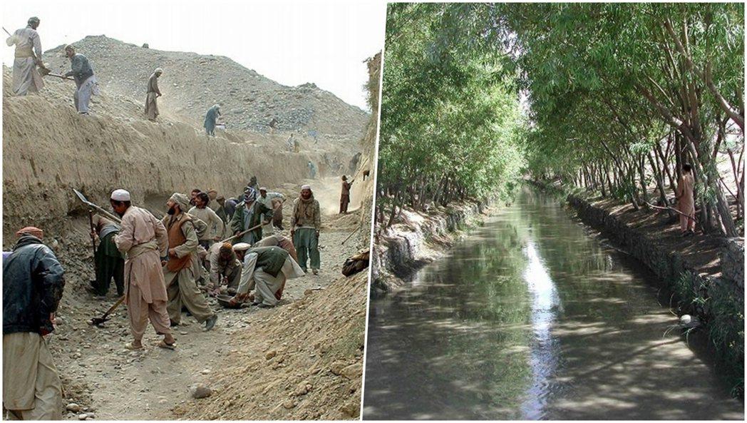 中村哲在阿富汗東南部推動「綠之大地」計畫,建設水利設施,將沙漠轉為良田,目前灌溉...