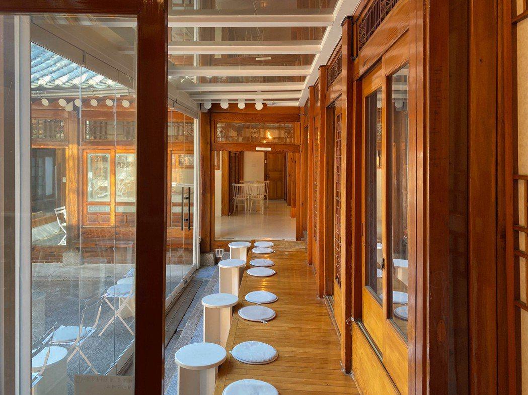 韓屋咖啡廳「bear café」。 圖/陳信方攝影