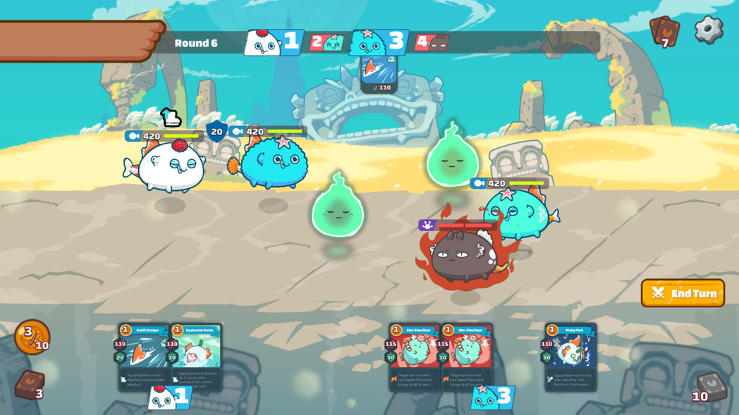 Axie 戰鬥畫面