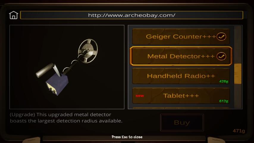 收集到的金幣也可以用來升級考古設備/圖片截自YouTube@Psycho