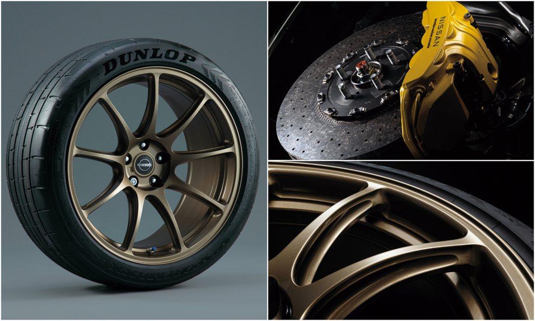 Rays輕量化鍛造鋁圈和專屬碳陶瓷煞車系統。 摘自Nissan