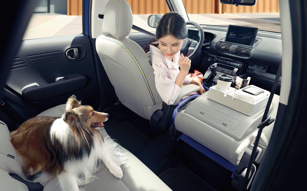 Hyundai全新Casper的每個座椅都具備摺疊功能。 摘自Hyundai
