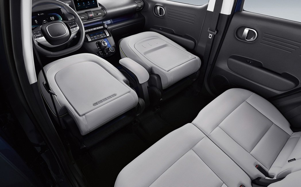 Hyundai Casper所有座椅都可直接折疊。 摘自Hyundai