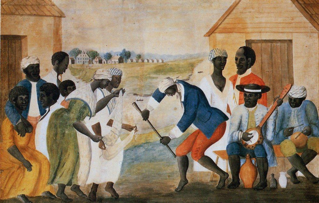 這幅名為〈舊種植園〉(The Old Plantation)的繪畫完成於1785...