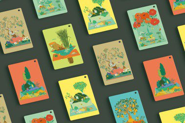 伊聖詩20週年紀念禮,6款川貝母限定園地香氛卡。 圖/伊日生活提供