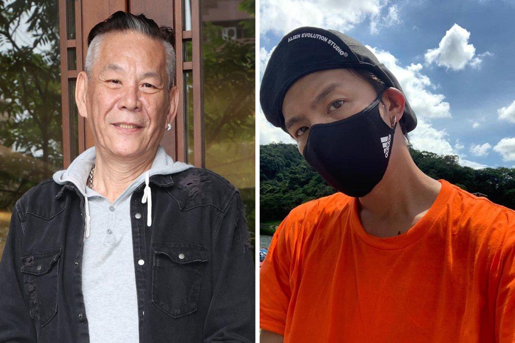 在小鬼滿過世周年前夕,龍劭華也驟逝。合成圖/摘自臉書、記者潘俊宏攝影