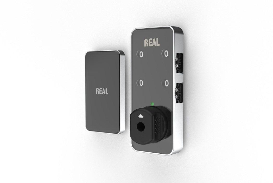 無需電源即可利用手機APP解鎖的「NFC櫥櫃號碼鎖」。  寬豐工業/提供