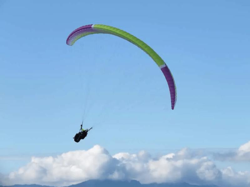日月潭飛行傘。 圖/kkday