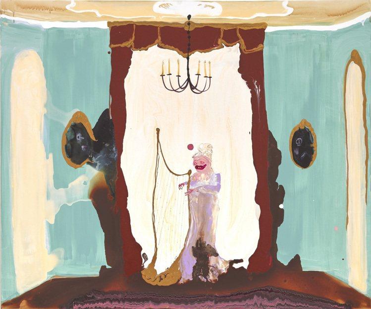 Genieve Figgis「Lady with a Harp」,2018年作,...