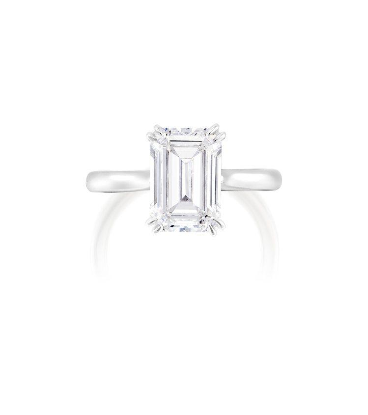 3.16克拉完美無瑕Type IIa鑽石鑽戒,估價55萬港元起。圖/富藝斯提供