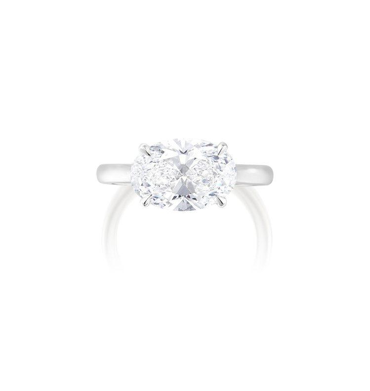 3.12克拉完美無瑕Type IIa鑽石鑽戒,估價約60萬港元起。圖/富藝斯提供...