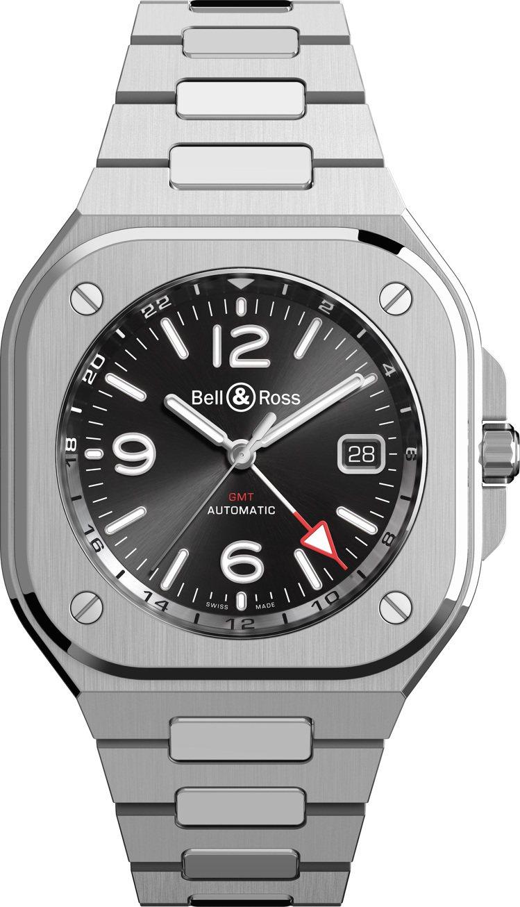 Bell & Ross BR 05 GMT兩地時間精鋼腕表,17萬5,0...