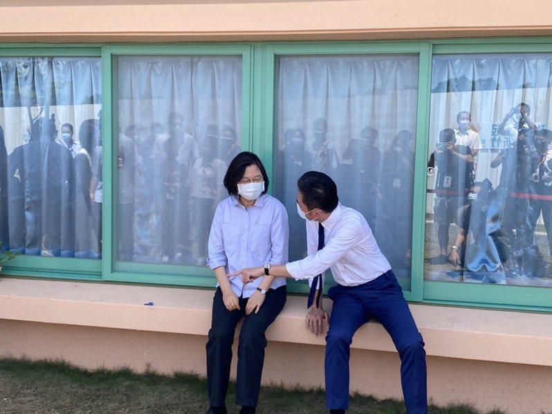 總統蔡英文今到新竹華德福幼兒園訪視。記者王駿杰/攝影