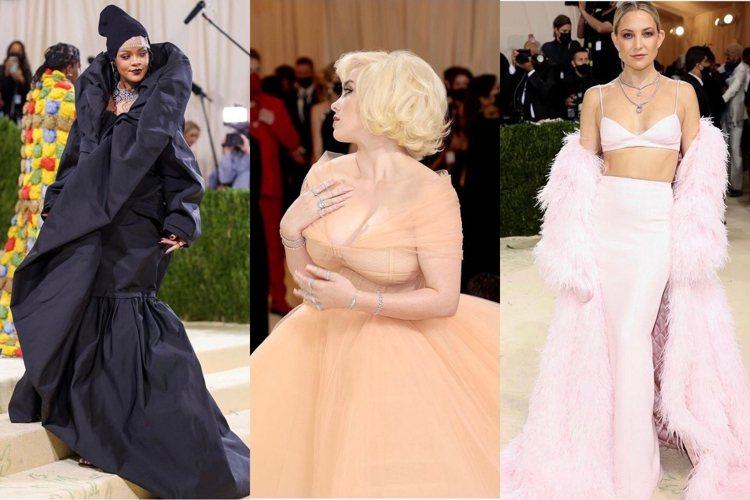 蕾哈娜、怪奇比莉、凱特哈德森配戴鑽石珠寶登上 Met Gala紐約大都會藝術博物...