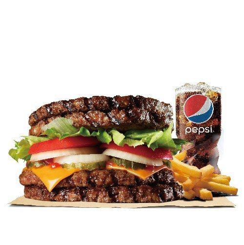 漢堡王「究極重磅火烤牛肉堡」,單點269元,套餐309元。圖/漢堡王提供