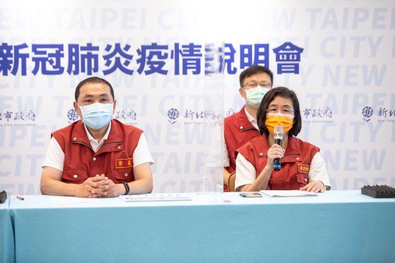 新北市衛生局長陳潤秋表示,據跟該職場了解,在可傳染期間有一位因為人力調度,轉移辦公室,該人員昨日PCR結果出爐為陰性。圖/新北市新聞局提供